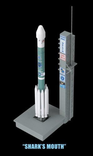 Dragon-Models-Delta-II-Rockets-with-Launch-Pads-Space-Rockets-Set-of-3-1400-Scale-0-2