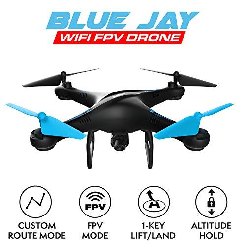 Drone with Camera Live Video \u2013 U45W Blue Jay HD Drones for Kids \u0026 Adults \u2013 Beginner FPV RC