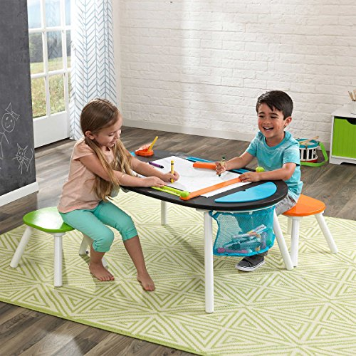 Durable Deluxe Chalkboard Art Table W 3 Sealable Spill