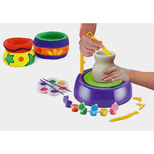 Educational-Creative-DIY-Pottery-Studio-Artist-Studio-Easy-Spin-Pottery-Wheel-Ceramic-Machine-for-Children-Kids-for-Fun-0