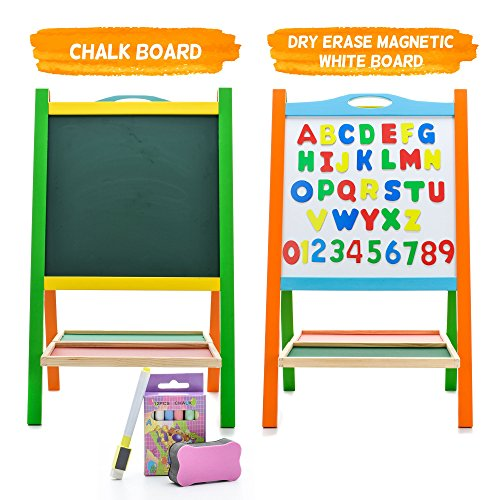Elk-Bear-Double-Sided-Magnetic-Whiteboard-Painting-Easel-for-Small-Kids-and-Toddlers-0-2