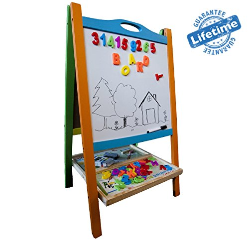 Elk-Bear-Double-Sided-Magnetic-Whiteboard-Painting-Easel-for-Small-Kids-and-Toddlers-0