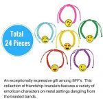 Emoji-Party-Supplies-Novelty-Party-Favor-Jumbo-Bundle-Includes-Rubber-Emotion-Bracelets-7-inch-Friendship-Bracelets-and-4-inch-Buddy-Clips-84-Items-0-0