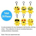 Emoji-Party-Supplies-Novelty-Party-Favor-Jumbo-Bundle-Includes-Rubber-Emotion-Bracelets-7-inch-Friendship-Bracelets-and-4-inch-Buddy-Clips-84-Items-0-1