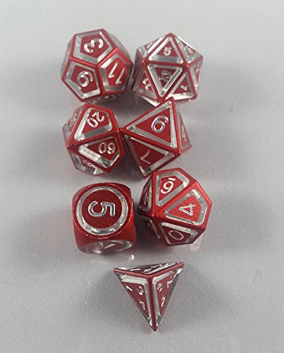 Floating-Polyhedral-7-Die-Set-Red-Anodized-Aluminum-Gaming-Dice-0