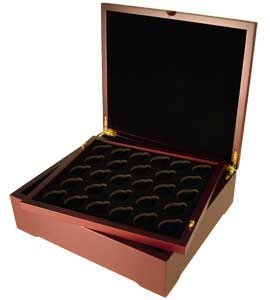 Four Tray Coin Display Box For Capsule Certified Slab