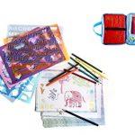 Frecklez-Stencil-Set-Stencil-Kit-For-Kids-Fabric-Travel-Bag-With-Sketch-Pad-300-Shapes-15-Stencils-15-Colored-Pencils-Sharpener-Scissors-0-2