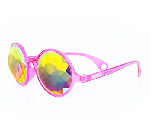 GloFX-Transparent-Pink-Kaleidoscope-Glasses–Rainbow-Fractal–Flat-Back-0-0