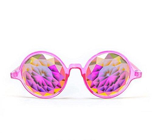 GloFX-Transparent-Pink-Kaleidoscope-Glasses–Rainbow-Fractal–Flat-Back-0