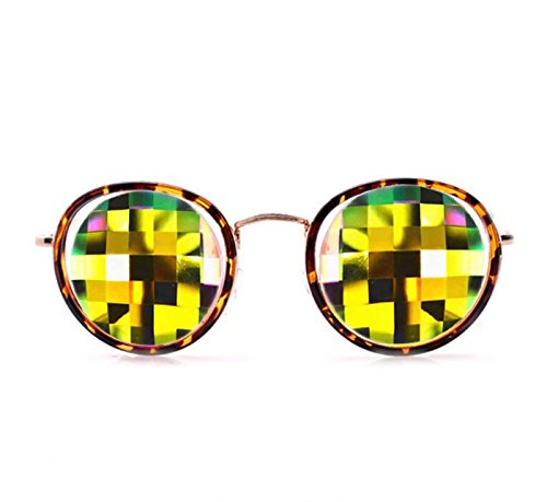 GloFX-Turtle-Shell-Vintage-Metal-Kaleidoscope-Glasses–Rainbow-Bug-Eye–Flat-Back-0