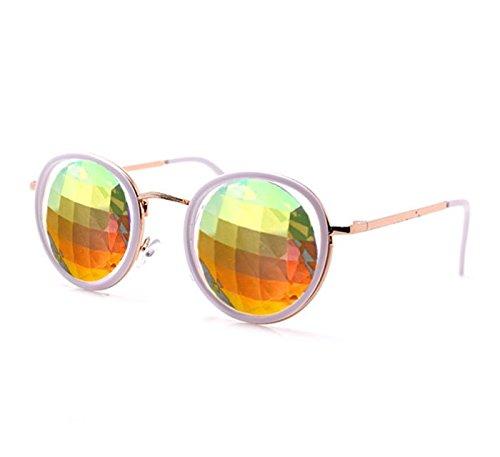 GloFX-White-Ivory-Vintage-Metal-Kaleidoscope-Glasses–Rainbow-Bug-Eye–Flat-Back-0-0