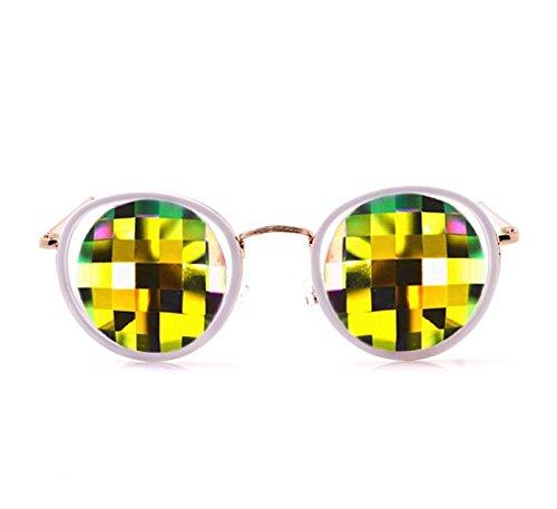 GloFX-White-Ivory-Vintage-Metal-Kaleidoscope-Glasses–Rainbow-Bug-Eye–Flat-Back-0