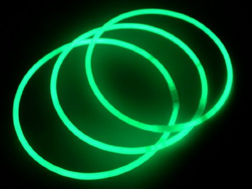 Glow-Sticks-Bulk-Wholesale-Necklaces-100-22-Green-Glow-Stick-Necklaces-100-FREE-Glow-Bracelets-Bright-Color-Glow-8-12-Hrs-Connector-Pre-attachedTime-Saver-Sturdy-Packaging-GlowWithUs-Brand-0-0