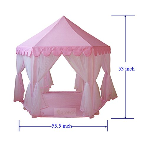 GreEco-Princess-Castle-PLay-Tent-Fairy-Princess-Castle-Tent-Extra-Large-Room-Pink-0-0
