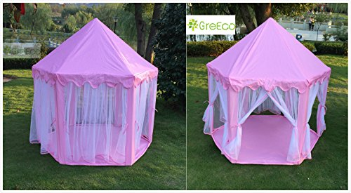 GreEco-Princess-Castle-PLay-Tent-Fairy-Princess-Castle-Tent-Extra-Large-Room-Pink-0-1