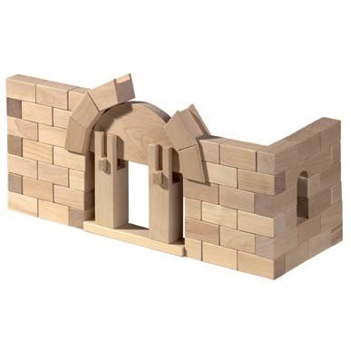 HABA-Roman-Arch-Wooden-Architectural-Building-Blocks-114-Piece-Set-0