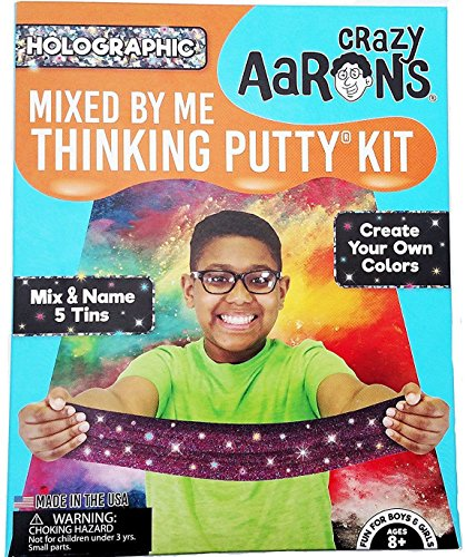 HOLOGRAPHIC-Sparkle-Mixed-By-Me-Kit-Crazy-Aarons-Illusions-Thinking-Putty-0