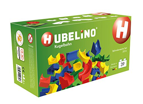 HUBELINO-Marble-Run-39-Piece-Run-Elements-Expansion-Set-2016-the-Original-Made-in-Germany-Certified-and-Award-Winning-Marble-Run-100-compatible-with-Duplo-0