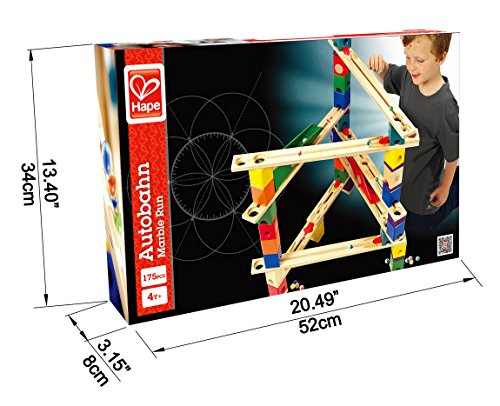 Hape Quadrilla Wooden Marble Run Construction Autobahn