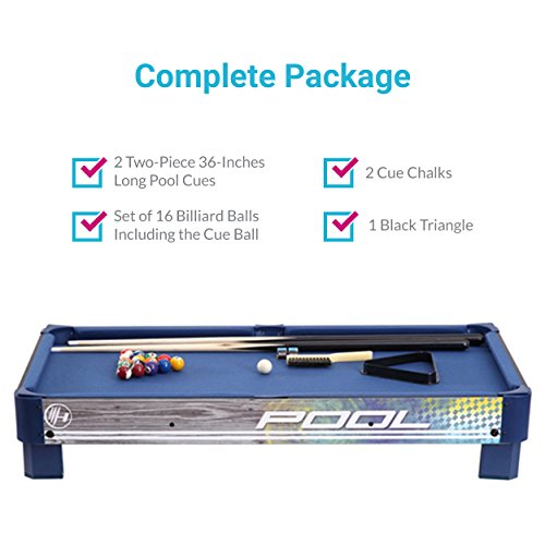 Harvil-Tabletop-Pool-Table-with-L-style-Legs-Includes-2-Pieces-36-Inch-Pool-Cues-1-Set-of-Billiard-Balls-Chalk-and-Triangle-0-1