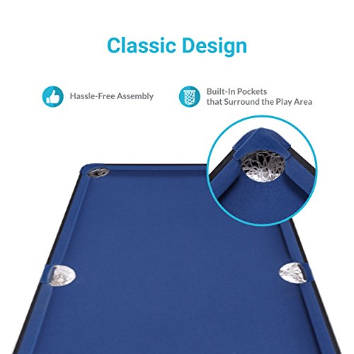 Harvil-Tabletop-Pool-Table-with-L-style-Legs-Includes-2-Pieces-36-Inch-Pool-Cues-1-Set-of-Billiard-Balls-Chalk-and-Triangle-0-2