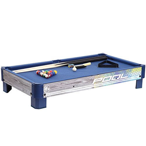 Harvil-Tabletop-Pool-Table-with-L-style-Legs-Includes-2-Pieces-36-Inch-Pool-Cues-1-Set-of-Billiard-Balls-Chalk-and-Triangle-0