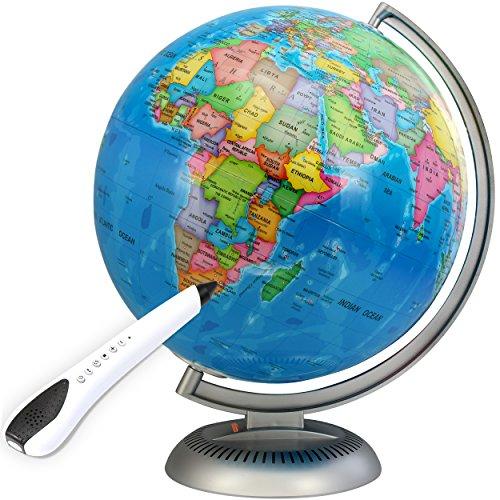 Illuminated Interactive Globe with Talking Smart Pen - 12 ...