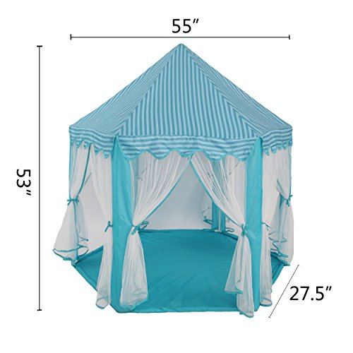Intency-PrincessPrince-Castle-Kids-Play-Tent-Large-Portable-Children-Playhouse-with-Led-Star-Lights-for-Boys-Girls-Toddlers-0-1
