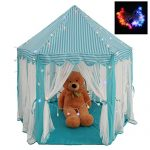 Intency-PrincessPrince-Castle-Kids-Play-Tent-Large-Portable-Children-Playhouse-with-Led-Star-Lights-for-Boys-Girls-Toddlers-0
