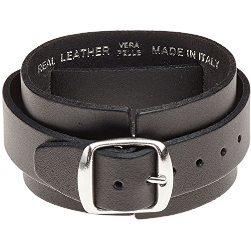 Iron-Maiden-Mens-Logo-Leather-Wriststrap-Wristband-Black-0-0
