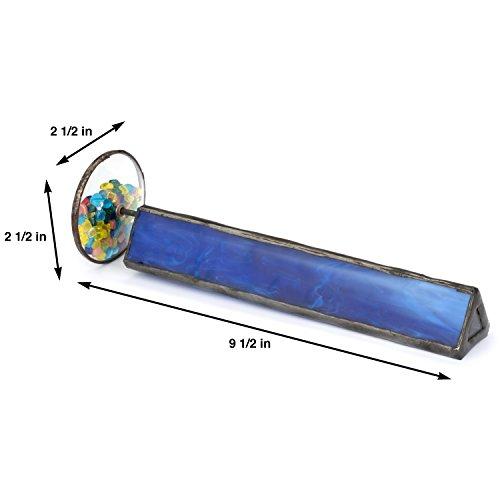 J-Devlin-Kal-103-Tumble-Wheel-Kaleidoscope-Blue-with-Glass-Chips-0-0
