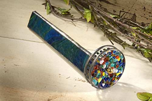 J-Devlin-Kal-106-Stained-Glass-Kaleidoscope-Forest-Green-Barrel-and-Two-Colorful-Wheel-0-0