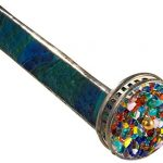 J-Devlin-Kal-106-Stained-Glass-Kaleidoscope-Forest-Green-Barrel-and-Two-Colorful-Wheel-0