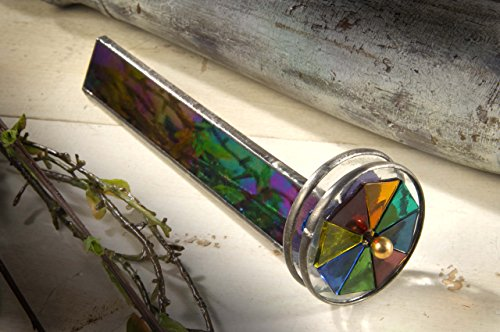 J-Devlin-Kal-110-Double-Wheel-Kaleidoscope-Black-Iridescent-Stained-Glass-Gift-for-Dad-0-0