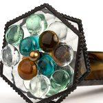 J-Devlin-Kal-112-Kaleidoscope-Double-Wheel-in-Brown-Opalescent-with-Glass-Stones-0-2
