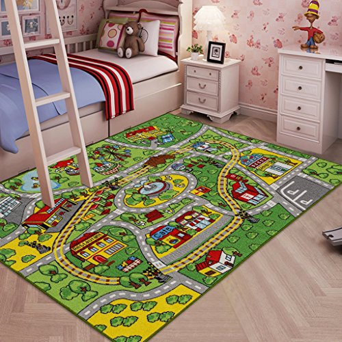 JACKSON Large Kid Rug For Toy Cars ,Safe And Fun Car Rug