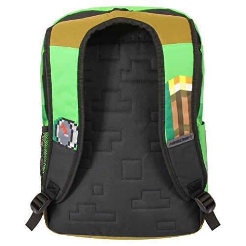 33994b74fc JINX Minecraft 17″ Pickaxe Adventure Kids Backpack – Green (Green