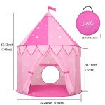 JOYBEE-Children-Play-Tent-with-Play-Tunnel-TubeGirls-Princess-Castle-for-IndoorOutdoor-UsePink-Upgrade-190T-Polyester-47D-x-55H-0-0