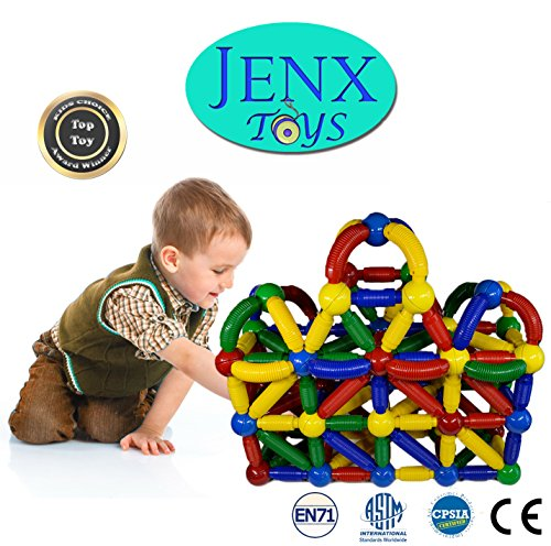 Building Toys From The 60s : Jenx toys jumbo pcs magnetic rods and balls building