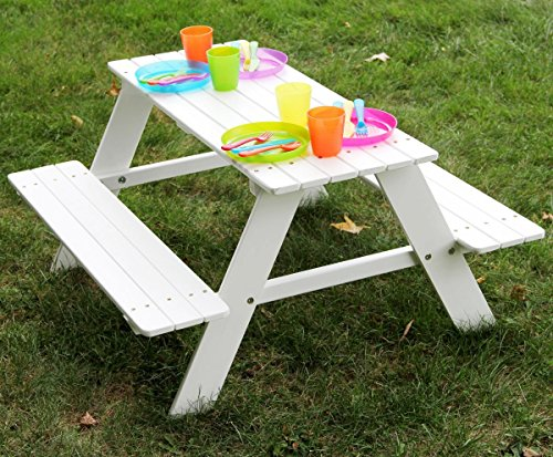 Kao Mart Kids Childrens Wooden Picnic Table Bench