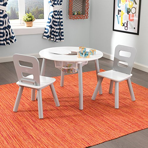 KidKraft-3-Piece-Round-Storage-Table-and-Chair-Set-0