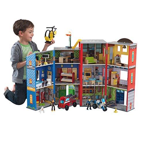 Dinosaurs Mdf Toy Box Childrens Storage Toys Games Books: KidKraft Everyday Heroes Play Set