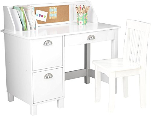 KidKraft-Kids-Study-Desk-with-Chair-White-0