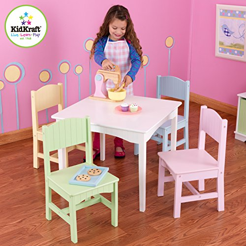KidKraft-Nantucket-Table-4-Pastel-Chairs-0