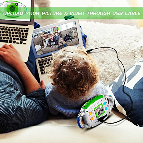 Kids-Camera-BIBENE-Kids-Digital-Camera-for-Boys-and-Girls-Digital-Video-Camera-with-144-inch-TFT-Display-SD-Card-Slot-USB-Cable-Perfect-Christmas-Gift-for-Children-0-2