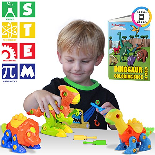 Best Stem Toys For Kids And Toddlers : Kidwerkz dinosaur toys stem learning pieces take