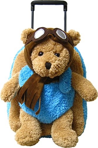 Kreative-Kids-Adorable-Aviator-Pilot-Bear-Rolling-Backpack-w-Removable-Stuffed-Toy-Wheels-0