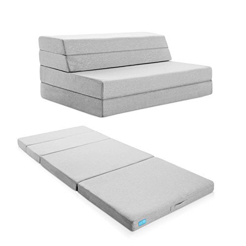 LUCID-4-Inch-Folding-Mattress-and-Sofa-with-Removable-Indoor-Outdoor-Fabric-Cover-0