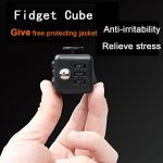 LVHERO-11-Pcs-Different-Colors-Fiddle-Blox-Fidget-Cube-Dice-Toy-with-11-Pcs-Protective-Case-A-Fun-Way-to-Relieve-Stress-and-Anxiety-or-ADHD-for-Children-and-Adults-Anxiety-Attention-BEST-QUALITY-0-0