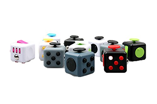 LVHERO-11-Pcs-Different-Colors-Fiddle-Blox-Fidget-Cube-Dice-Toy-with-11-Pcs-Protective-Case-A-Fun-Way-to-Relieve-Stress-and-Anxiety-or-ADHD-for-Children-and-Adults-Anxiety-Attention-BEST-QUALITY-0-2
